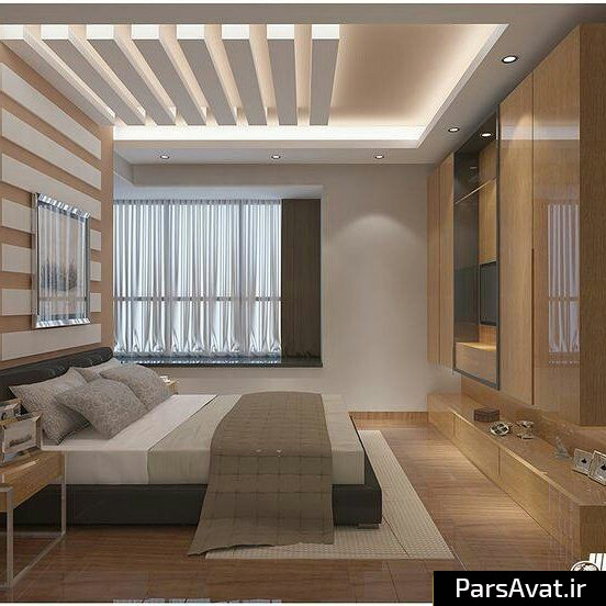 Bedroom False Ceiling Designs Images Design Of Master Bedroom Modern Bedroom Chandeliers Bedroom Paint Ideas Accent Wall Red: کناف ، اجرای کناف ، سقف کاذب