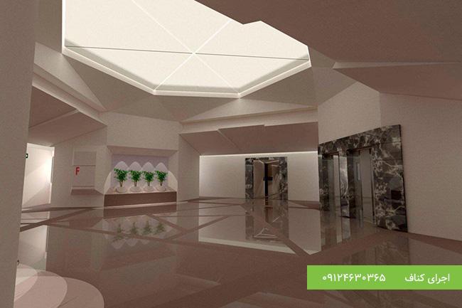 اجرای سقف ساختمان اداری با کناف، پروژه سهروردی ، کناف متفرقه