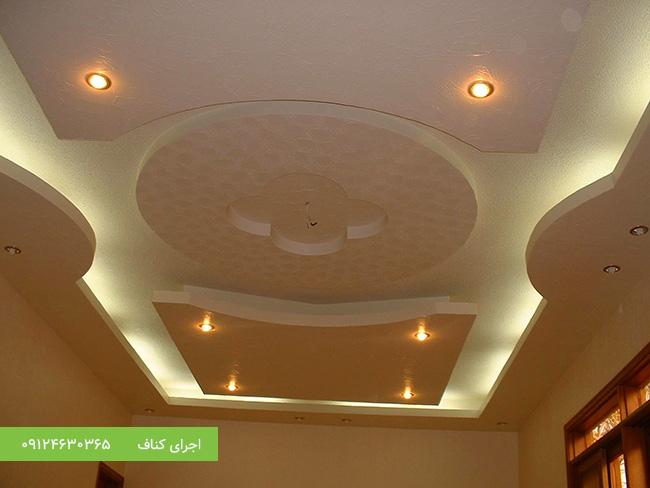 سقف کاذب کناف،باکس نور مخفی کناف،طرح باکس نور مخفی