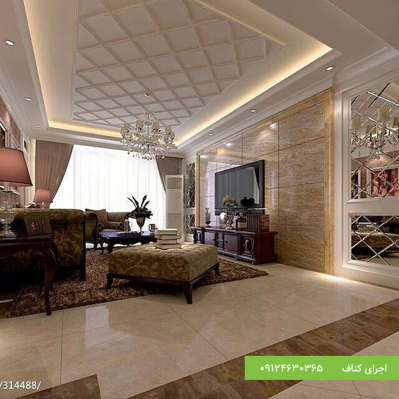 مدل کناف سقف 60 طرح برای سقف پذیرایی کناف، اجرای کناف