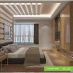 طرح سقف کاذب کناف برای اتاق خواب