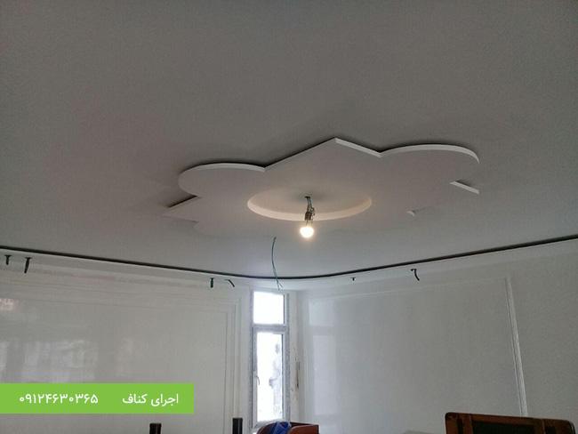 اجرای کناف،کناف سقف،سقف کاذب کناف،باکس نور مخفی کناف