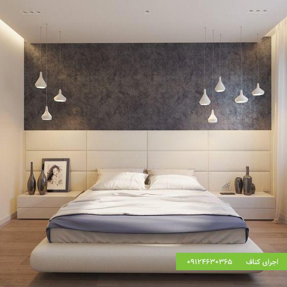 کناف سقف اتاق خواب،اجرای سقف کناف،اجرای کناف