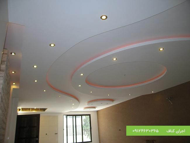 مدل کناف سقف،طرح کناف سقف،سقف نورپردازی شده کناف