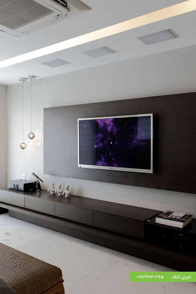 کناف دیوار تلویزیون