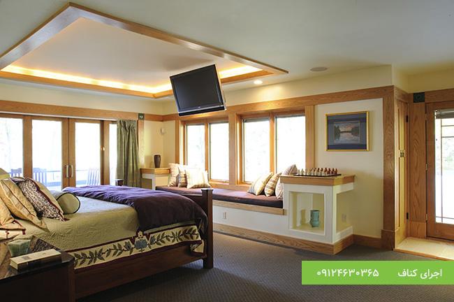 سقف کاذب اتاق خواب،کناف سقف اتاق خواب