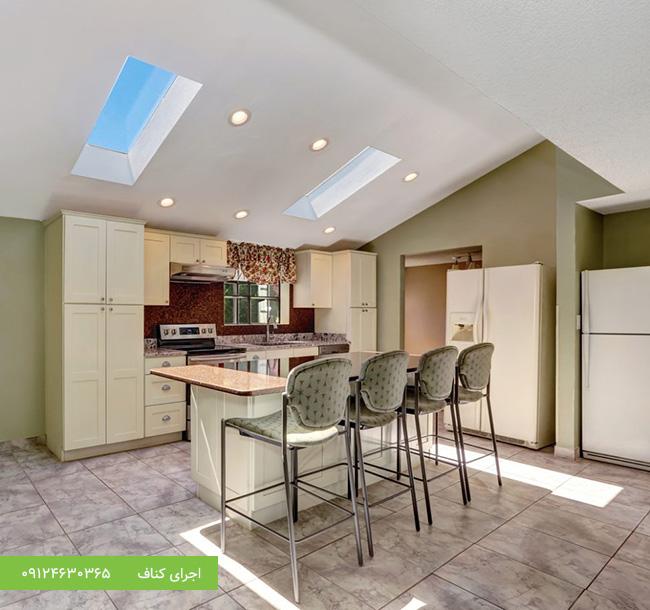 اجرای کناف،کناف سقف آشپزخانه