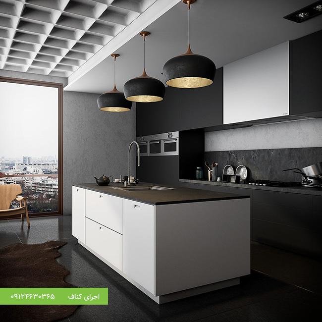 کناف سقف آشپزخانه مدرن