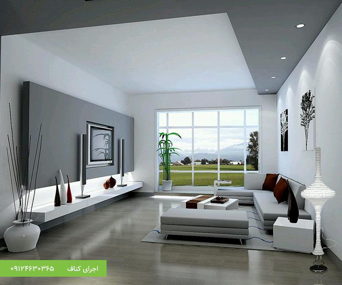 سقف کاذب مدرن، سقف کنافی پذیرایی مدرن