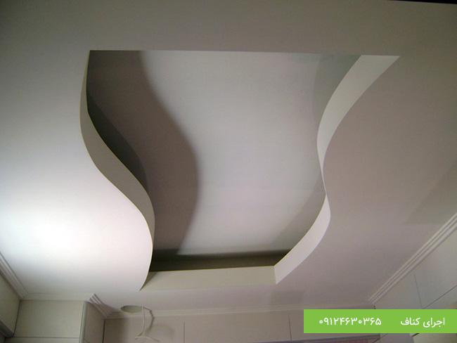 کناف سقف پذیرایی مدرن