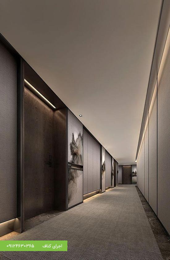 اجرای سقف کاذب مدرن برای راهرو