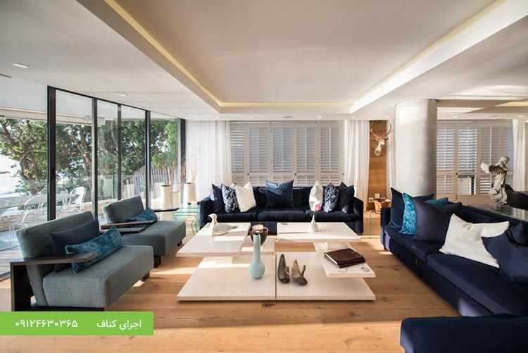 اجرای سقف کاذب مدرن منزل مسکونی