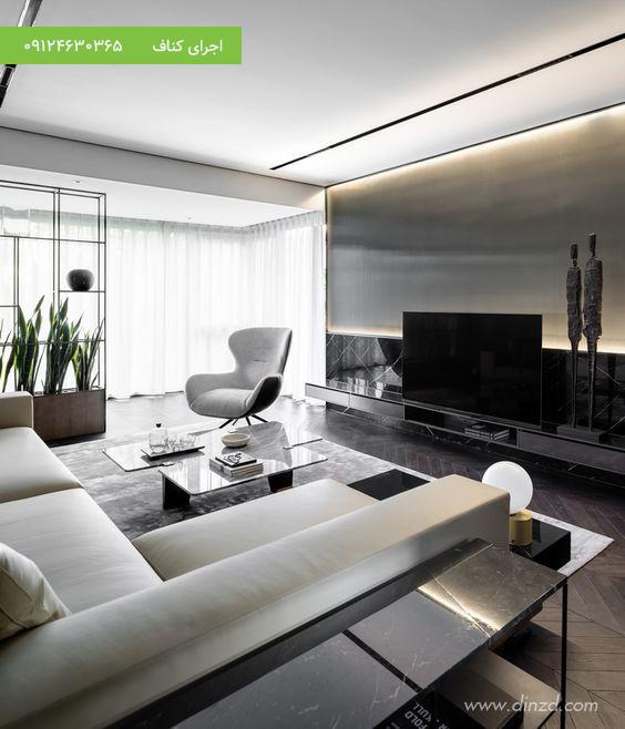 طرح های مدرن کناف برای سقف منزل مسکونی