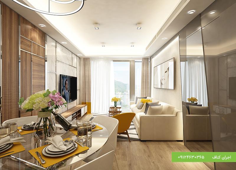 طرح های جدید برای سقف کناف پذیرایی
