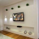 طرح دیوار پشت تلویزیون با کناف