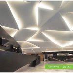 طرح سقف کاذب کناف لابی ساختمان