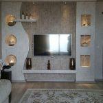 دیوار پشت تلویزیون با کناف
