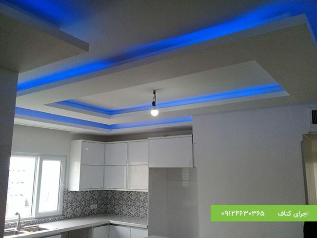 سقف کاذب با نور مخفی