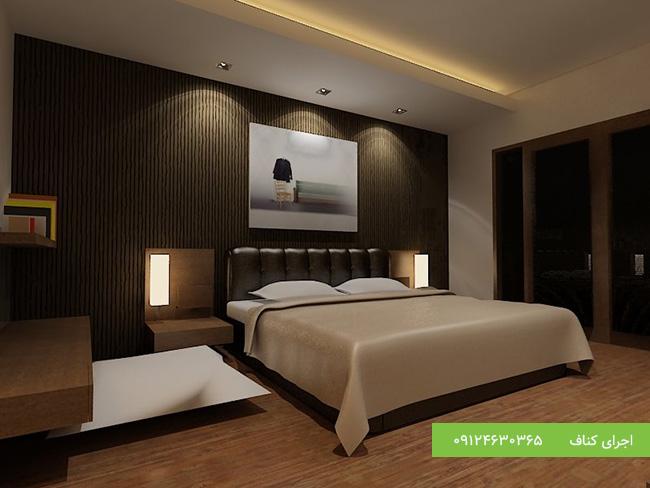 کناف کاری دکوراسیون اتاق خواب مدرن