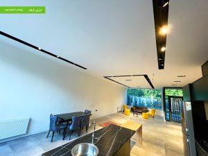اجرای طرح مدرن شیاری بر روی سقف با کناف