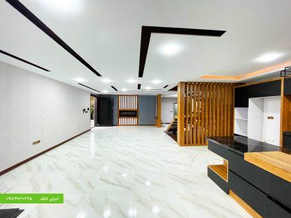نمونه کار مدرن سقف نورپردازی دکوراتیو با کناف